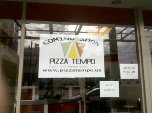 Pizza Tempo before opening