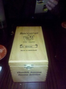Bill in Baccarat Box