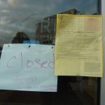Gifford's Closed sign