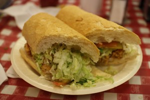 Shrimp and Oyster Po-Boy