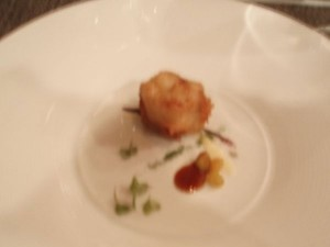 Crispy veal sweetbread with flavors of picata