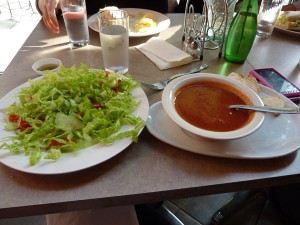 Roasted Tomato Soup and Salad