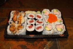 California, Tuna, and Shrimp Tempura Rolls