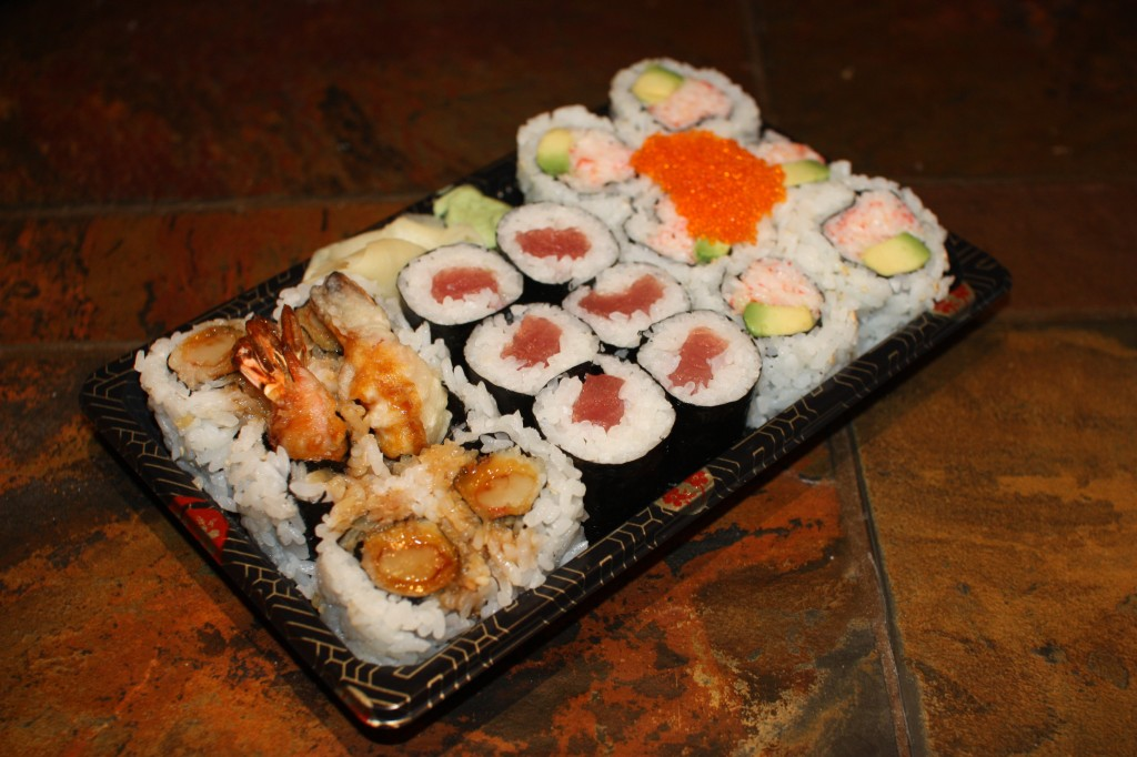 California, Tuna, and Shrimp Tempura Rolls