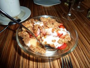 Fruit and Granola with yuzu yogurt