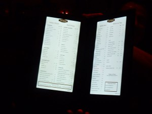 American Tap Room's Illuminated Menu