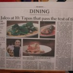 Newspaper clipping of 10th Anniversary