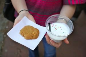Ted's Bulletin Milkshake and Cookie