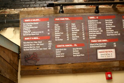 Tackle Box Menu