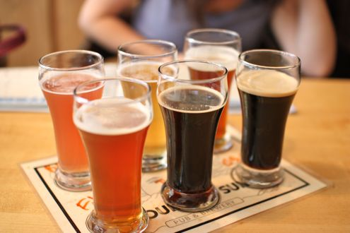 Six beer sampler 