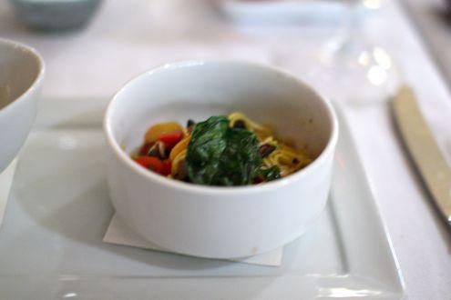 Saffron spaghettini