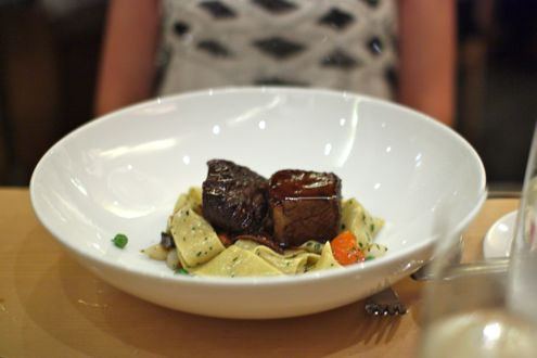 Short rib with pappardelle and syrah sauce