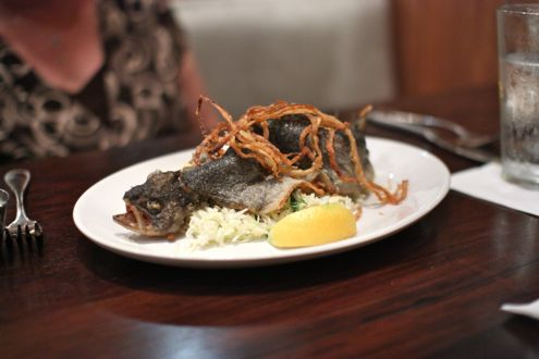 Crispy fried whole trout