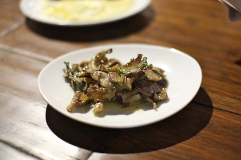 Wood-roasted mushrooms