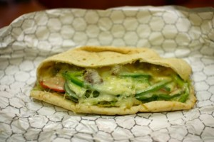 Falafel hummus veggie pita,