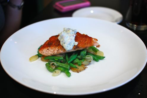 Pan roasted Atlantic salmon
