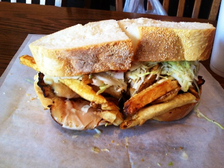 Primanti Bros Turkey and Cheese Sandwich