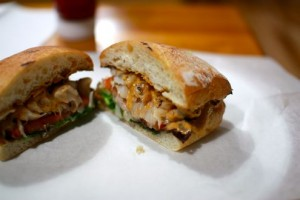 Hake Sandwich and Spicy Aioli
