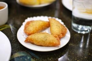 Fried shrimp and and pork dumplings