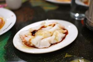 Shrimp rice noodle crepes