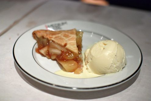 Apple Pie with vanilla bean ice cream