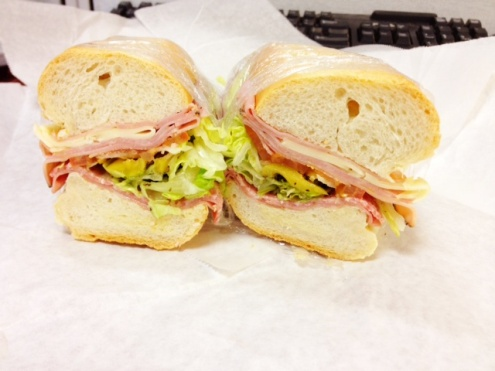 "Italian Sub on 9"" Hard Roll"
