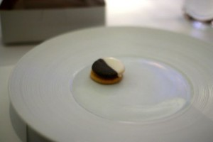 Savory Black and White Cookie