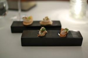 Mackerel and scallop crudo
