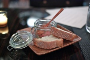 Bread and chicken pate
