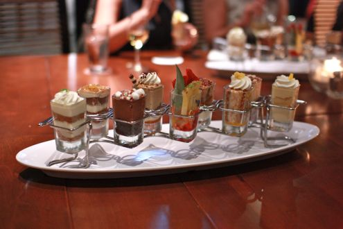 """Mini indulgences"" desserts"