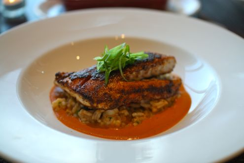 Blackened red drum