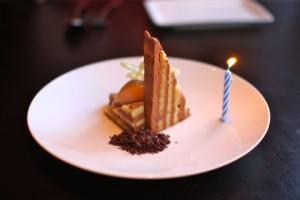 Seven layer birthday cake