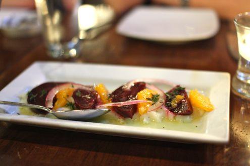 Beet & orange salad.
