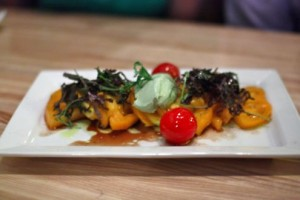 Heirloom tomato farm salad