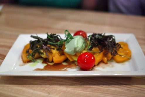 Heirloom tomato farm salad