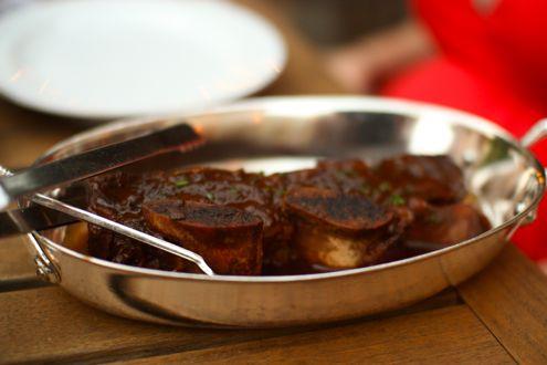 Braised beef rib