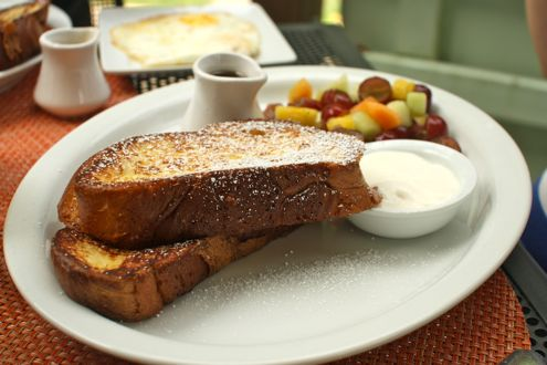 Orange and vanilla bean French toast