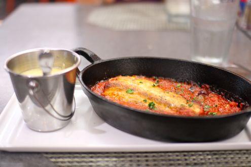 Sautéed rockfish with pizzaiola sauce