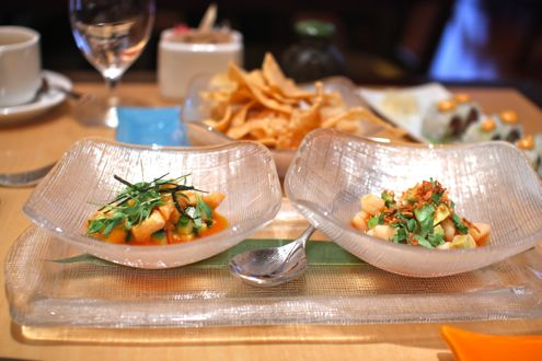 Bay Scallop Ceviche  and Ceviche Dorado