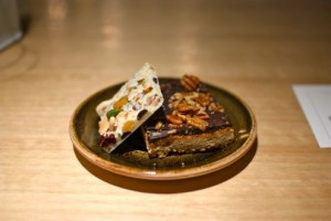 Chocolate covered blondie and cashew bark