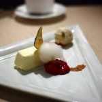 Cherry Glen goat cheese mousse