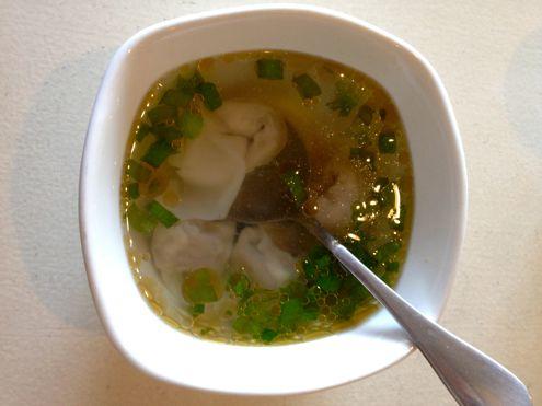 Vegan wonton soup