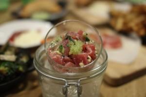 Ahi tuna and ginger ceviche