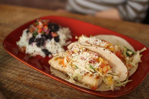 Grilled mahi mahi tacos,