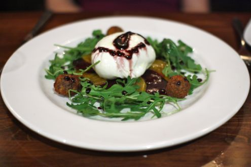 Burrata of buffalo mozzarella salad,