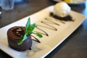 Molten chocolate cake,