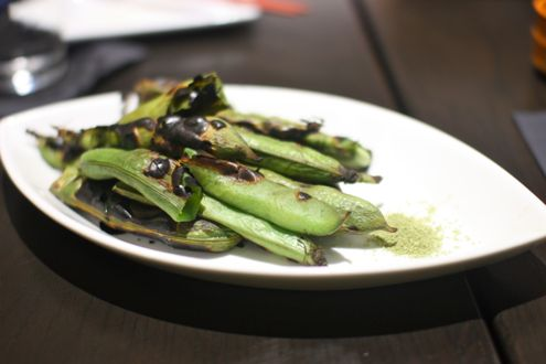 Grilled fava bean