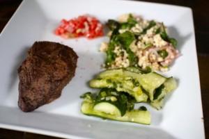 Summer steak with watermelon salsa