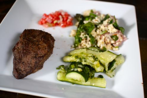 Summer steak with watermelon salsa