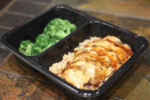 Chicken teriyaki and rice